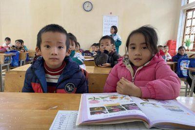 Học sinh lớp 1 hứng thú với chương trình mới